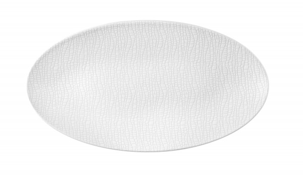 L Fashion luxury white Servierplatte oval 33x18 cm