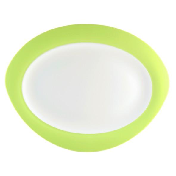 Platte oval, 31cm, Trio apfelgrün