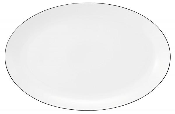 Classique Noir Servierplatte oval 35,5x23cm