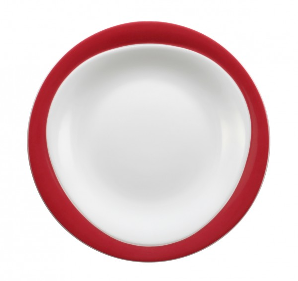 Frühstücksteller 23cm Trio rubinrot
