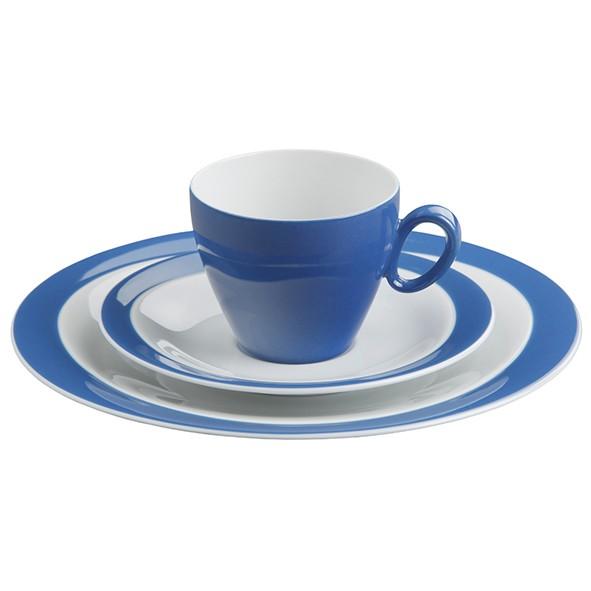 Kaffeegedeck 3- teilig, Trio blau