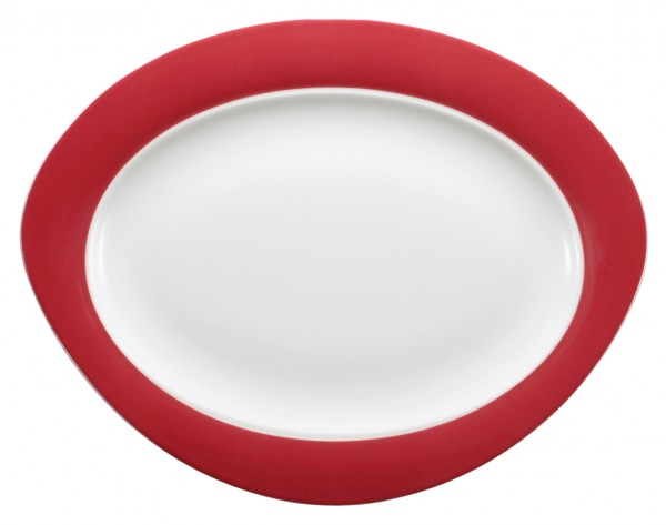 Platte oval, 35cm, Trio rubinrot