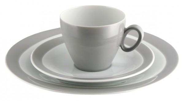 Kaffeegedeck 3- teilig, Trio steingrau