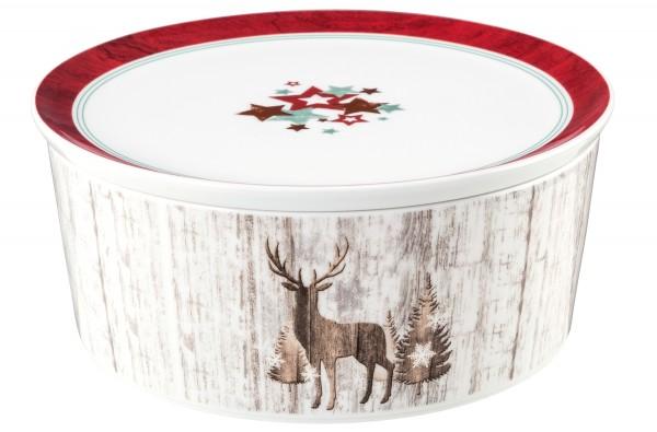 Life Weihnachten Schale mit Deckel 21x9cm