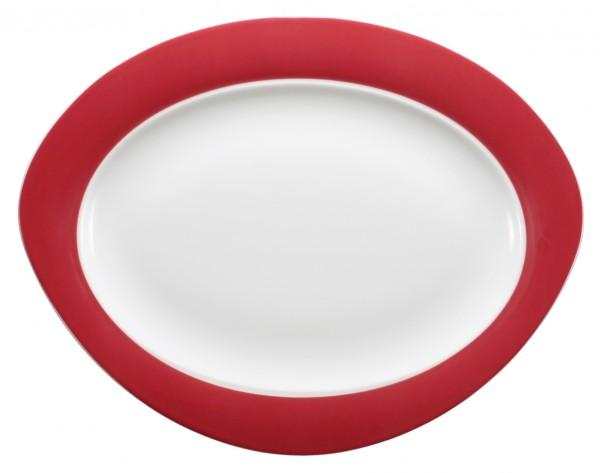 Platte oval, 31cm, Trio rubinrot