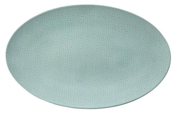 L Fashion green chic Servierplatte oval 40x26cm