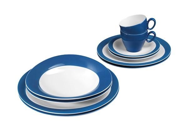 Trio Basic- Set, 10- teilig, Trio blau