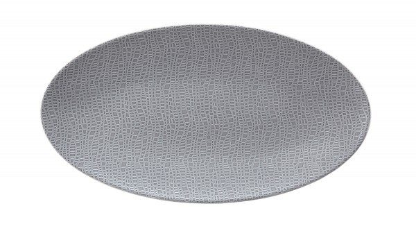 L Fashion elegant grey Servierplatte oval 33x18 cm