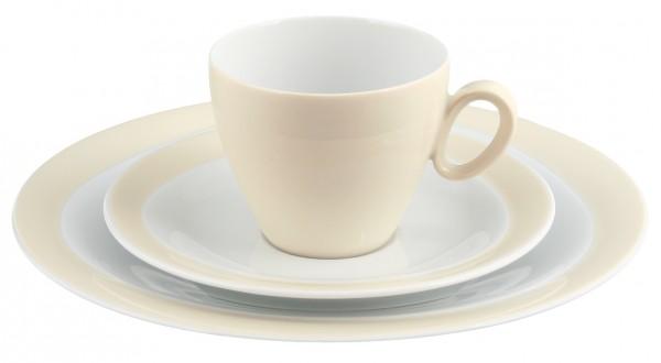 Kaffeegedeck 3- teilig, Trio vanille