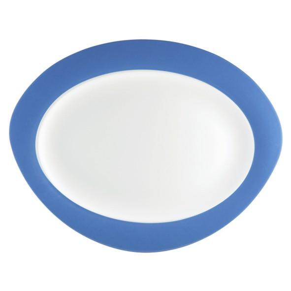 Platte oval, 31cm, Trio blau
