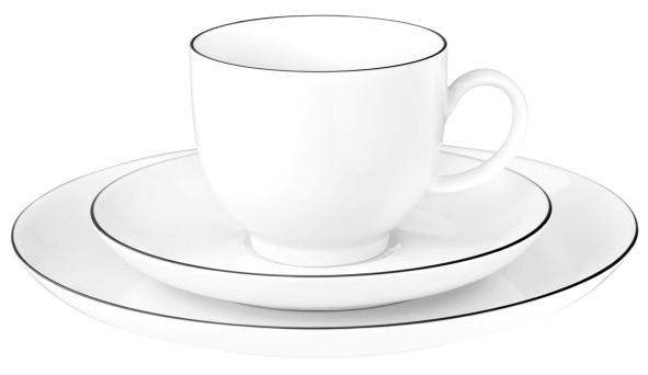 Lido Black Line Kaffeegedeck rund 3tlg.
