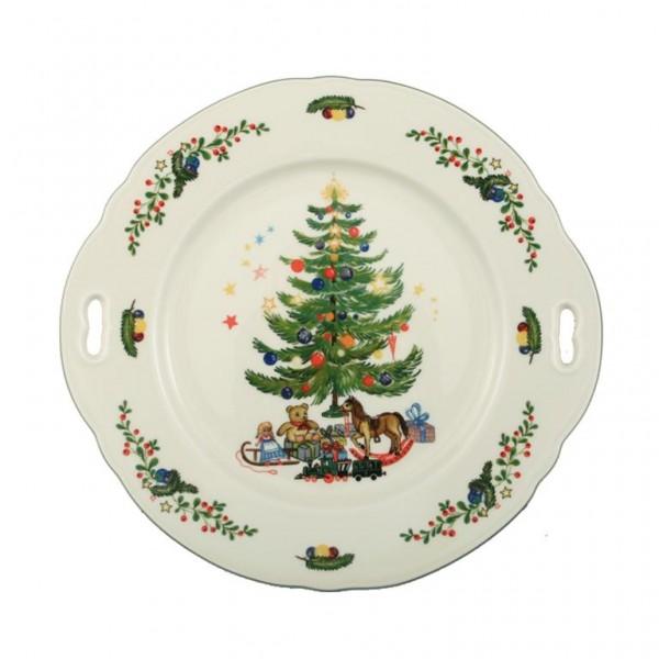 Kuchenplatte mit Griff 27cm Weihnachten 43607