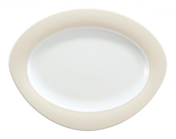 Platte oval, 31cm, Trio vanille