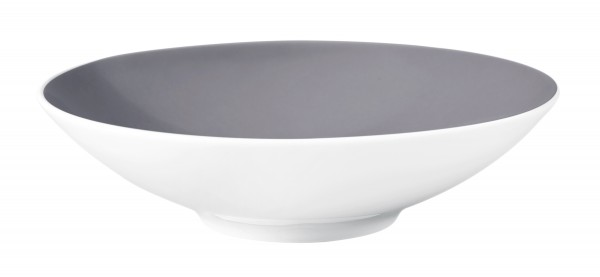 L Fashion elegant grey Suppenteller 20 cm